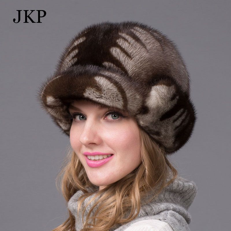 Real mink fur hats for winter women fur cap with diamond Pattern mink fur beret Russia good quality elegant hatОдежда и ак�е��уары<br><br><br>Aliexpress