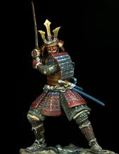 Unpainted Kit 1/24 75mm ancient japan Samurai, 16th-17th 75mm   figure Historical WWII Figure Resin  Kit Free Shipping