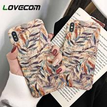 PKR 261.40  22%OFF | LOVECOM Vintage Watercolor Leaves Cases For iPhone XS Max For iPhone XR XS X 6 6S 7 8 Plus Matte PC Hard Phone Back Cover Gifts