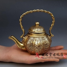 Special Copper Babao Pot Decoration Kettle Tea Pot Antique Copper Pot Decorative Craft Gift Antique Bronze Collection