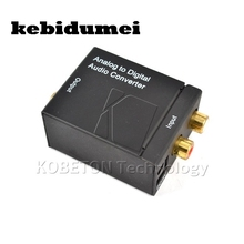 kebidumei Brand New Analog to Digital Signal Audio Sound Adapter ADC Converter Optical Coaxial RCA Toslink SPDIF Adaptor TV(China)