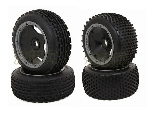 baja 5b off road wheels set (2 front. 2 rear) for HPI rovan KM<br>