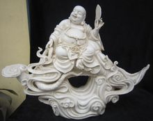 21 inch / Great Chinese dehua huayi porcelain statues happy laughing Buddha too