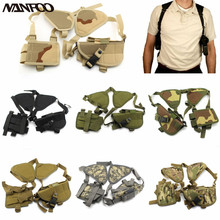 6 Colors Available Military Tactical Men's Gun Shoulder Holster Shotgun Pistol Gun Holster Hunting Magazine Pouch Holster Nylon(China)