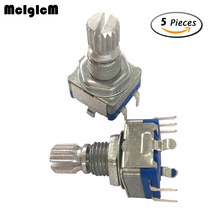 86035 5pcs Rotary encoder,code switch/EC11/ audio digital potentiometer,with switch,5Pin, handle length 15mm(China)