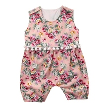 0-2Y Toddle Kids Girls Romper Sleeveless Clothes Jumpsuit Tops Outfits for Infant  Apparel For Baby