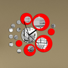 Modern Large Wall Clock Living Room Sofa Backdrop Wall Clocks DIY 3D Mirror Wall Stickers Brand wanduhr  BS