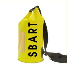 New Unisex PVC Waterproof 15L Swimming Bags Outdoor Water Sport Storage Shoulder bag for Beach Diving Surfing and Travel Kits