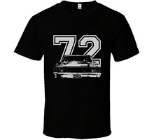 Good Quality Brand Cotton Shirt Summer Style Cool Shirts 1972 Chevelle Grill Year Dark T Shirt(China)