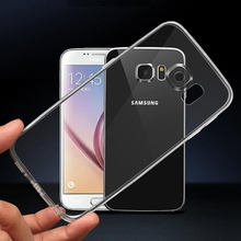 Case for Samsung Galaxy S7 edge Note 5 S6 edge plus Case Clear S6edge Soft TPU Crystal Transparent Cover with Dust Plug 2pcs/lot