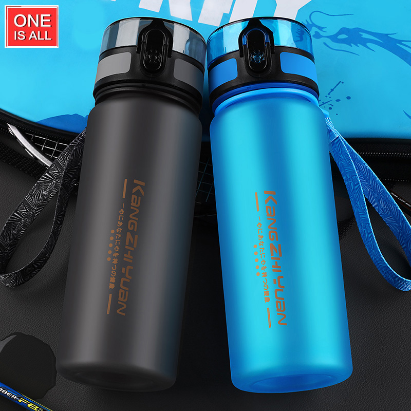 800ML Sport Water Bottle With Tea Infuser BPA Free My Water For Bottles Leak-proof Shaker Scrub Portable Bike Cycling(China)