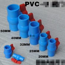 "1pcs 20/25/32/40/50/63mm Slip x Slip Shut Off Water PVC Ball Valve Blue 1/2"" 3/4"" 1"" 1-1/4"" 1-1/2"" 2"" BSP Female x Female(China)"
