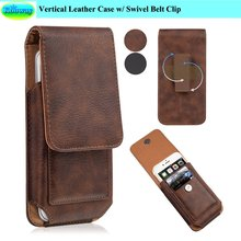 Premium Vertical Leather Swivel Belt Clip Case Pouch Cover w/ Magnetic Flap Holster for Blackberry DTEK50 / Leap / Z3 Capa(China)