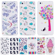 Luxury Cats horse Penguin Cactus Case For Huawei P8 lite P9 lite P10 lite Honor 8 Cases Capinha Funda Coque Clear TPU Silicone(China)