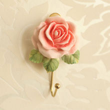 1 Rose Self Adhesive Stick On Door Wall Mounted Tile Towel Hanger Hook Bathroom