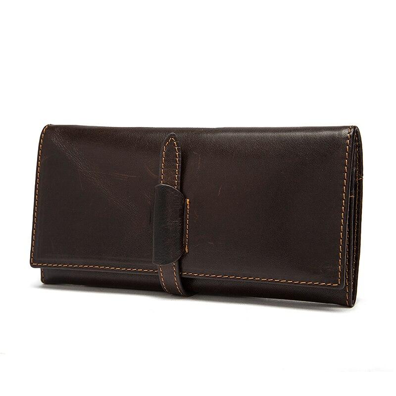 Top Genuine Cowhide Leather Men Wallet Luxury Mens Long Wallet Coin Purse Man Business Clutch Bag Vintage Male Carteira Wallets<br><br>Aliexpress