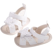 Infant  BabyGirls Cute Bowknot Summer White Breathable Princess Style Soft Anti-skid Toddler Kids Sandals