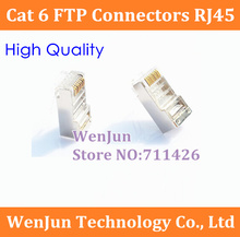 Cat 6 FTP Connectors RJ45 computer network crystal connector 8P8C 8P8C cable connector for Home Furnishing / Engineering(China)