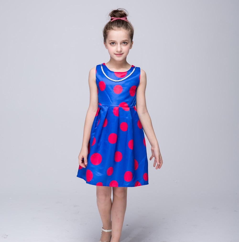 novatx girl dress nova brand polka fashion sleeveless kids dress for girls clothes children clothing girl party princess dress<br><br>Aliexpress