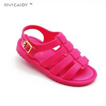 summer 3 color baby todder beach sandal 12.8cm-17.8cm cute retro Rome children boys girls baby beach sandals toe shoes Sapato(China)