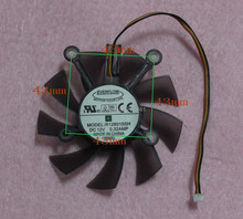 R128015SH 75mm Graphics / Video Card Fan Replacement 4 x 43mm 12V 0.32A 3Wire 3Pin for ASUS 9800GT 9800GTX GT240 GTS250(China)