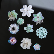 10 Pcs/Lot Flower Sequined Fashion Clothes Patch Pants Dress Applique Beaded Collar Sewing On Sticker Badge Bags Jewellery DIY
