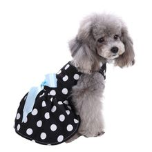 Pet Clothes Floral Bow Princess Party Dress Small Dog Skirt Puppy Doggy Vest Dress(China)