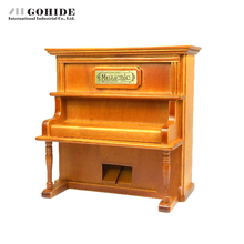 Gohide 2016 Fashion Design Restoring Grand Piano Wood Music Box For Valentine's Day Gift Rectangle Shape Wooden Piano Music Box