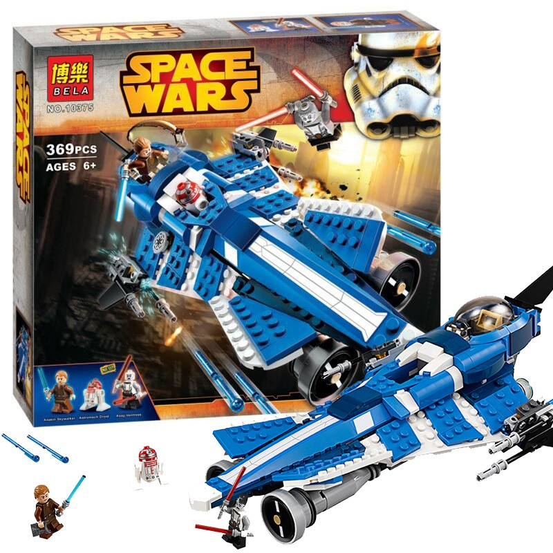 369pcs Bela 10375 Star Wars Model Building Blocks set Anakins Custom Jedi Starfighter Toys figures<br><br>Aliexpress