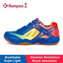 2017 New Kumpoo Badminton Shoes for Women and Men Breathable Antiskid Shock Absorbant Athletic Sports Sneakers KH-159 L790(China)