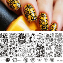 1 Pc Tulip Flower Pattern Nail Art Stamp Template Rose Image Plate BORN PRETTY BP-L029 12.5 x 6.5cm(China)