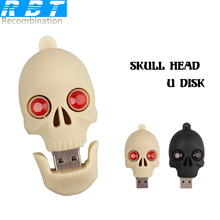 RBT USB Flash Drive Real Capacity High Speed Cool Skull 8GB 16GB 32GB Memory Usb Stick 2.0 Pen Drive Pendrive For PC