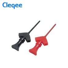 Cleqee P5003 10Pcs mini grabber SMD IC test hook clip jumper probe Logic Analyzer Testing Accessories(China)