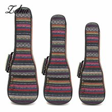 Zebra 21 23 26 Inch Padded Cotton Folk Portable Bass Guitar Gig Bag Ukulele Case Box Cover Guitar Backpack with Double Strap(China)