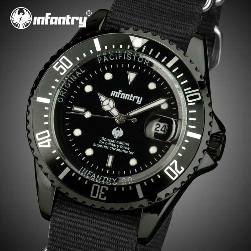INFANTRY Watch Men Durable Ultra Thin Nylon Aviator Japan Quartz Watches Waterproof Luminous Male Clocks Relogio Masculino<br><br>Aliexpress