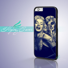 Coque Skull Marilyn Monroe Fundas Phone Cases for iPhone X 8 8Plus 7 6 6S 7 Plus 5S SE 5C 5 4S 4 Case for iPod Touch 6 5 Cover.(China)