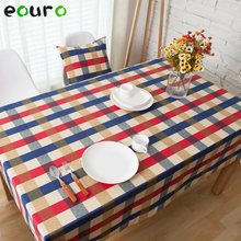 British style plaid pattern Cotton Table Cloth desk Bedside cabinets cover tafelkleed coffee shop 140*180/200/140/90*90cm