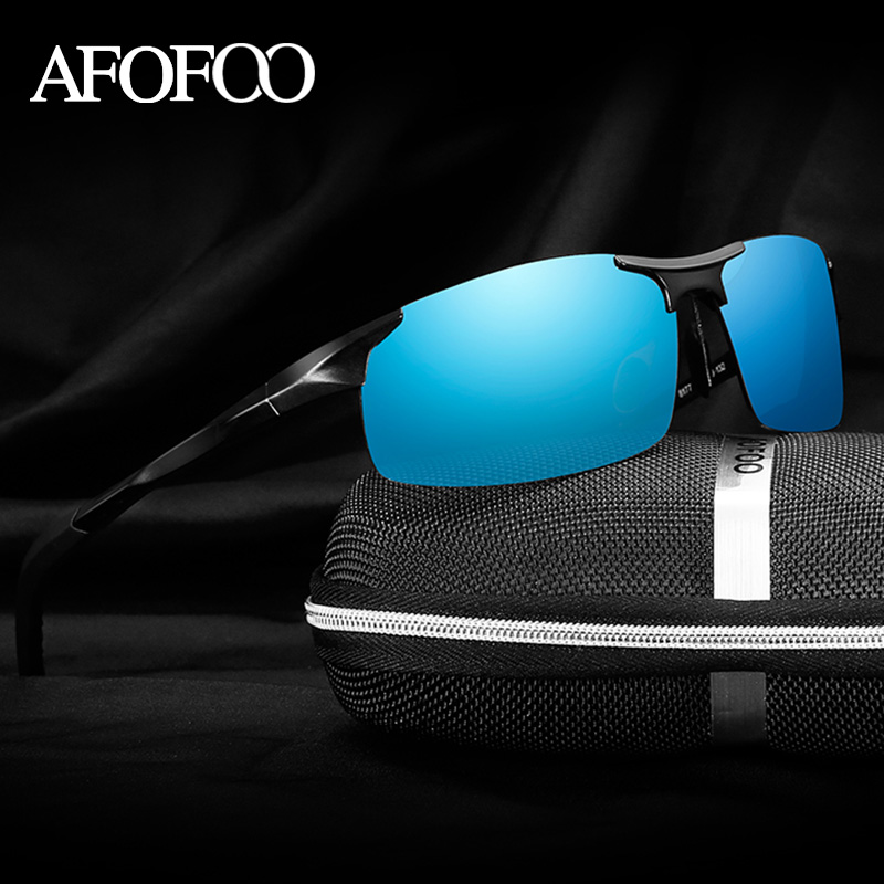 AFOFOO Aluminum Magnesium Mens HD Polarized Sunglasses Brand Men Driving Mirror Sun glasses Male UV400 Shades Goggle Eyewear<br><br>Aliexpress