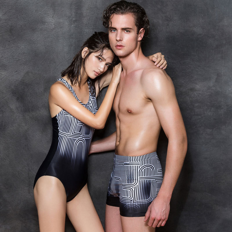 Large Size 2017 New Racing Swimsuit Two-piece Swimsuit Men and Women Swimsuit Surf Clothing Body Tight Professional Swimsuit<br>