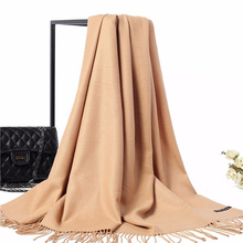 New Fashion Women Thick Artificia Cashmere Pashmina Solid Camel Pashmina Thick Warm Scarves Long Large Shawls Scarfs 011209