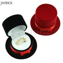 JAVRICK New Cute Straw Hat Velvet Rings Jewelry Box Earring Ear Stud Case Gift Container Carrying Cases For Rings Display Box