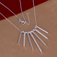 Free Shipping!!Wholesale silver plated Necklaces & Pendants,925 jewelry silver,Sever Column Necklace SMTN094