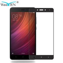 WeeYRN Xiaomi Redmi Note 4 Note 4X Full Cover Tempered Glass Screen Protector Xiaomi Redmi Note 4X Protective Glass Flim 9H