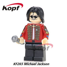 KF265 Super Heroes Custom Halloween Michael Jackson Thriller Zombie Bricks Model Building Action Blocks Gift DIY Toys Children