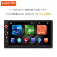 Zeepin New Android 6.0 DY7098-MG Universal Car Player 7 2 Din Audio GPS Navigation 1080P FM Radio Bluetooth Multimedia System