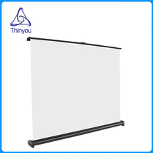 Thinyou Projector Screen 50 inch 16:9 Portable Manual Pull up Table Screen For Office Business Meeting Training  Home Theater