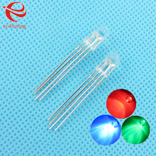 5mm Transparent Multicolor 4pin Common Anode RGB LED Light Emitting Diode Lamp Bead Tricolor Round Package Plug-in 50pcs/lot(China)