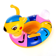 Lovely Cute Inflatable Children Swimming Ring Handles Baby Toddler Safety Aid Float Seat Swim Ring Swim Accessories For Kids(China)