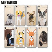Aertemisi Phone Cases Rottweiler French Bulldog Schnauzer Doxie Husky Puppy Clear TPU Case Cover for iPhone 5 5s SE 6 6s 7 Plus(China)