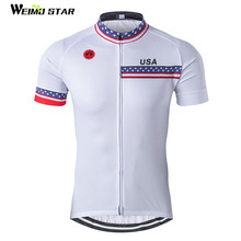 USA Cycling Jersey Men bike clothing bicycle top Ropa Ciclismo maillot MTB short sleeve Team Racing T-shirts Sports Whit2017(China)